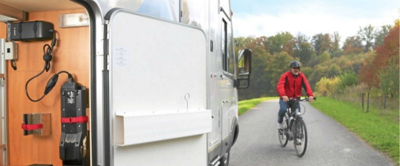 E-Bike accu opladen op de camping