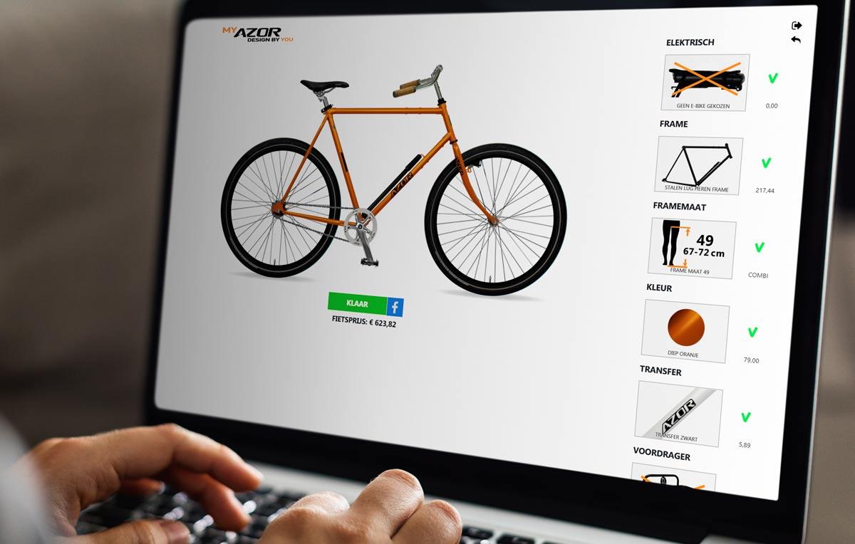 MyAzor: zelf je fiets in elkaar klikken