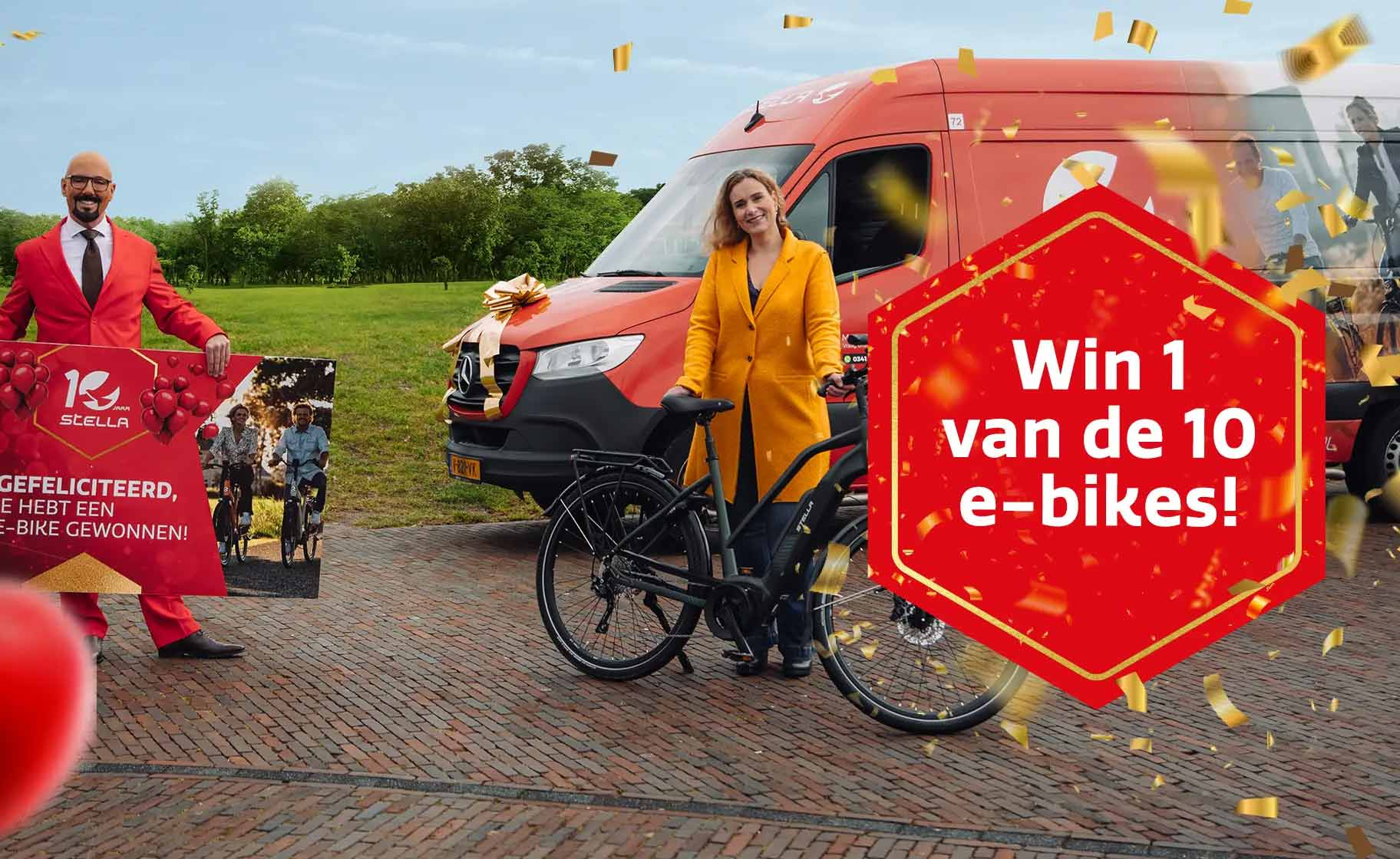 Win in de maand maart een gratis Stella E-bike